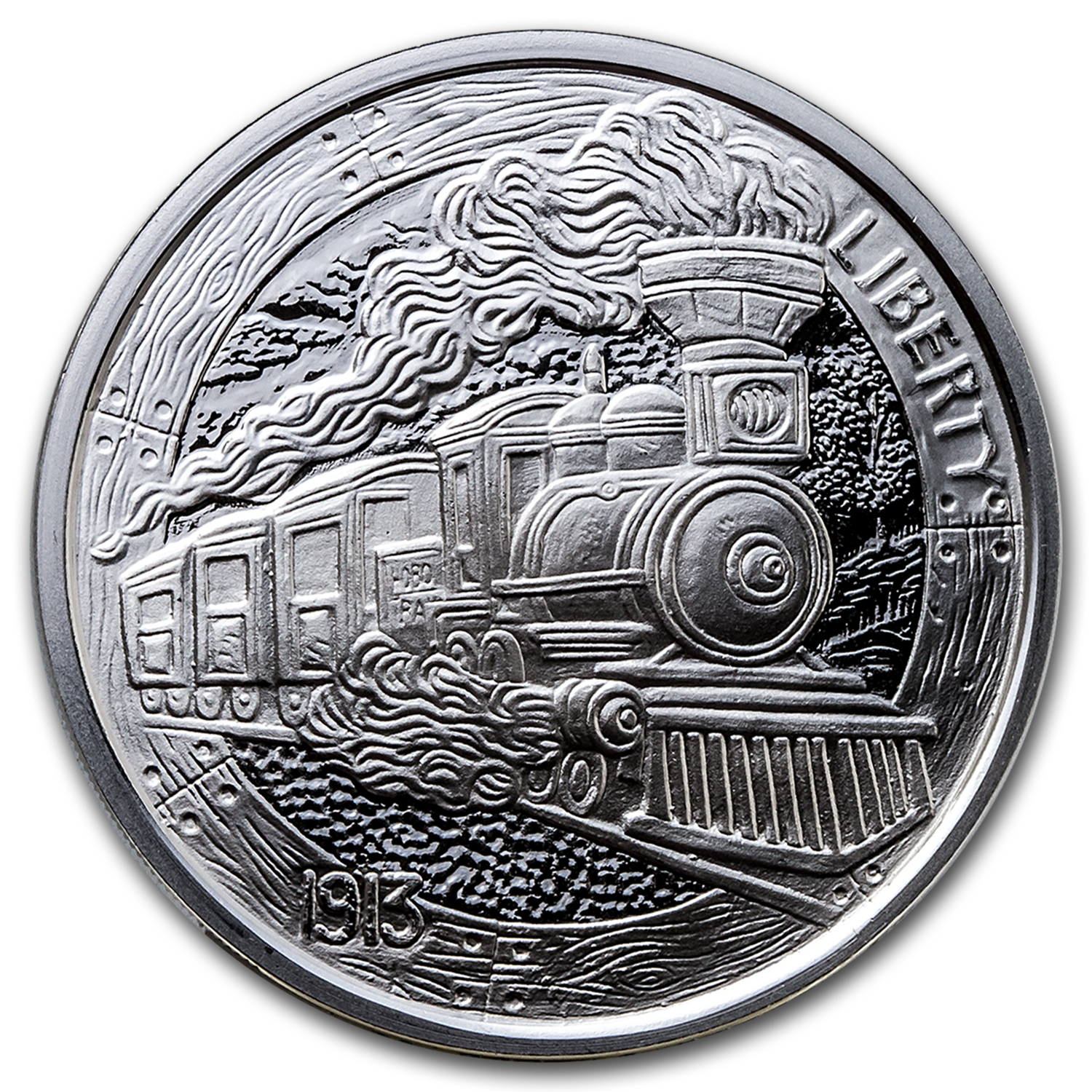 1 oz Silver Round - Hobo Nickel Replica (The Train)